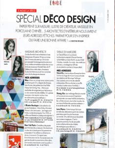 Vis a Vis Paris Elle Deco interior designer article bespoke linen