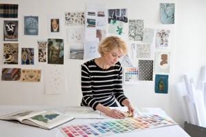 Veronique Taittinger at the Paris studio of Vis A Vis